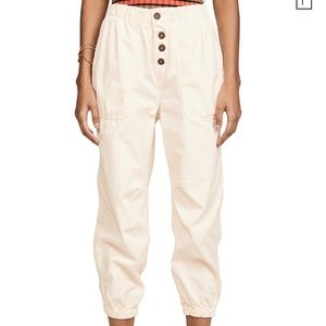 Free People Almond Buff Pants